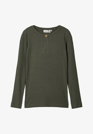 NKMKABILLE SLIM - Long sleeved top - thyme