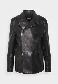 Neil Barrett - ZIP UP PEACOAT - Leather jacket - black - 0