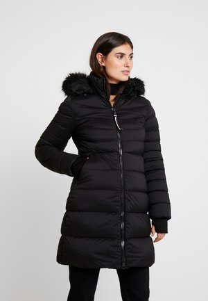PAMELA COAT - Kabát zprachového peří - black