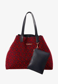 Tommy Hilfiger - ICONIC TOTE SET - Torba na zakupy - red - 6