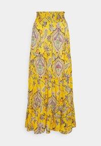 Desigual - FLORENCIA - Maxi skirt - yellow - 4