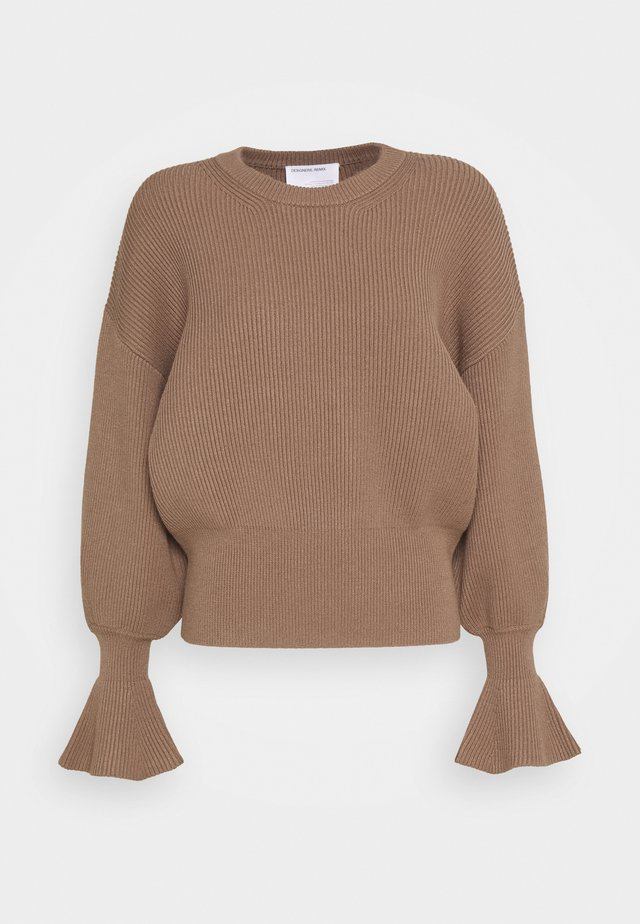 MANDY SLEEVE - Jumper - camel