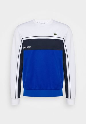 TENNIS - Sweater - white/lazuli/navy blue
