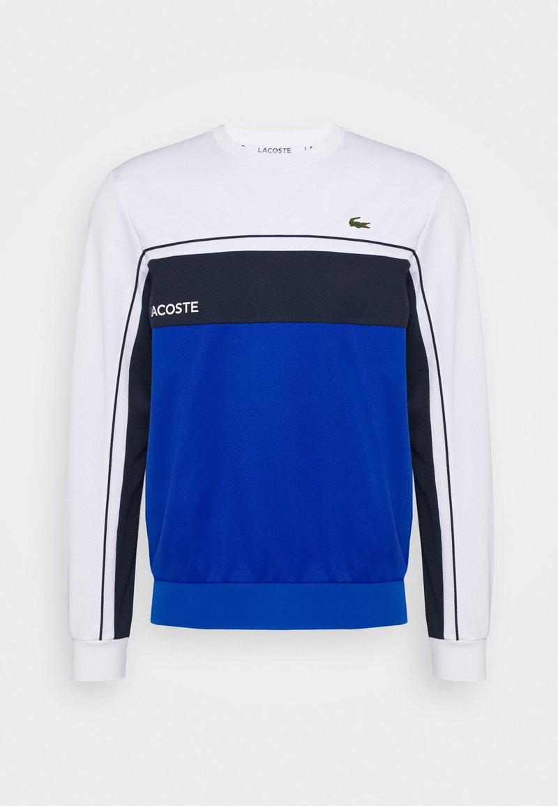 Lacoste Sport - TENNIS - Sweater - white/lazuli/navy blue
