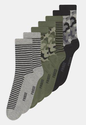 7 PACK - Socks - black/grey/khaki