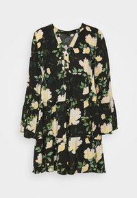 ONLFAYE SHORT DRESS  - Košilové šaty - black/cloud dance