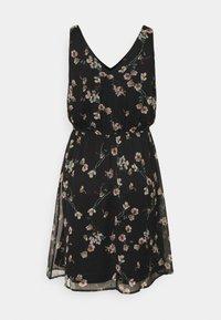 Vero Moda - VMWONDA NEW SINGLET SHORT DRESS - Vapaa-ajan mekko - black/eliza - 6