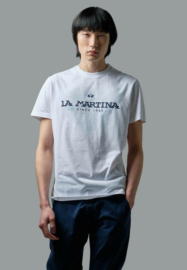 RANDAL - T-shirt con stampa - optic white