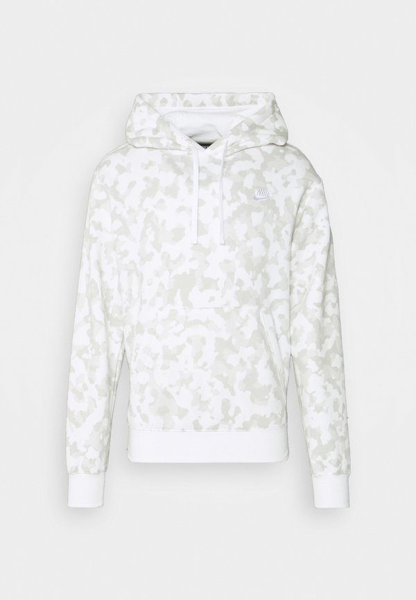 Nike Sportswear CLUB HOODIE CAMO - Bluza - summit white/white/biały Odzież Męska YJOD