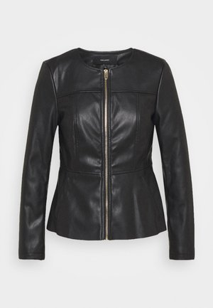 VMZALA SHORT JACKET - Giacca in similpelle - black