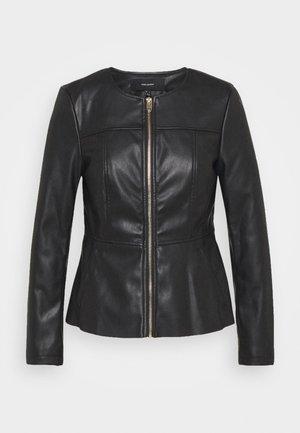 VMZALA SHORT JACKET - Faux leather jacket - black