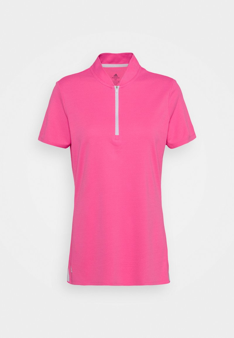 adidas Golf - HEAT.RDY ZIP SHORT SLEEVE - T-shirt con stampa - screaming pink