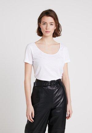 NOBEL TEE - Basic T-shirt - white melange
