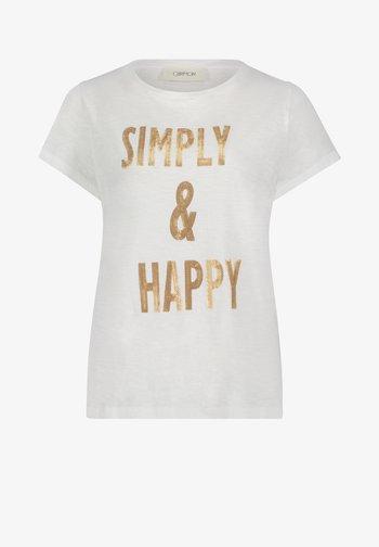 Print T-shirt - white/nature