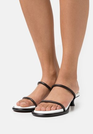 PIPE STRAPPY - Heeled mules - black