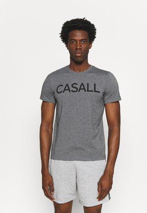 LOGO TEE - Print T-shirt - dark grey melange