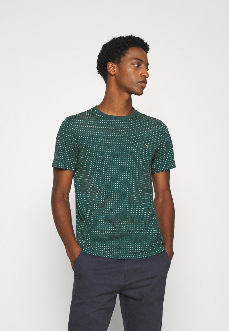 Farah - HOLBROOKS TEE - Print T-shirt - emerald green