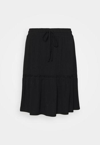 PCNEORA SKIRT - A-line skirt - black