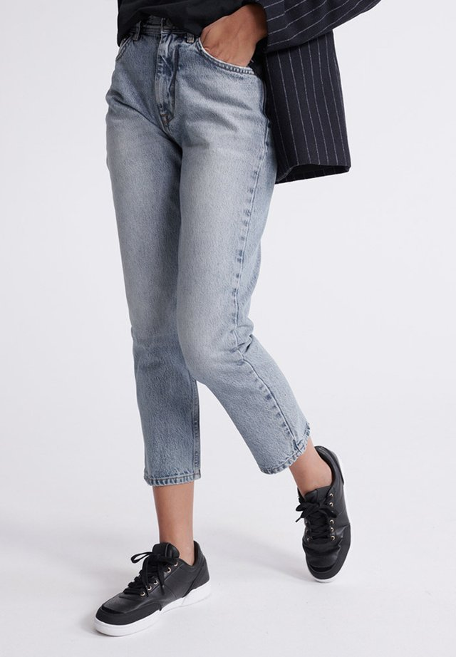 SUPERDRY HIGH RISE STRAIGHT JEANS - Jeans a sigaretta - light indigo vintage