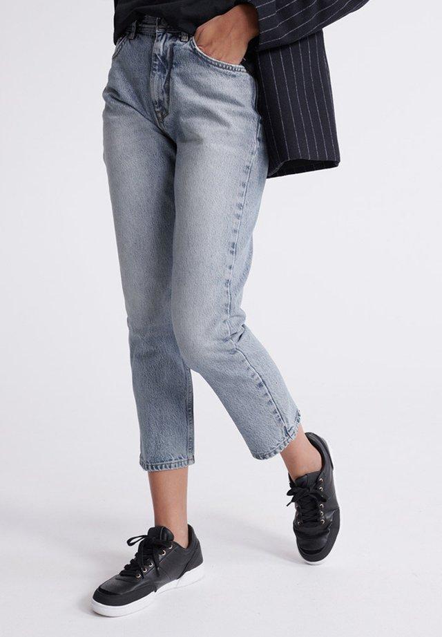 SUPERDRY HIGH RISE STRAIGHT JEANS - Straight leg jeans - light indigo vintage