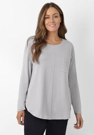GREY POCKET TEE - Long sleeved top - grey