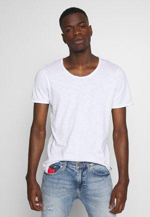 JJDETAIL TEE U NECK - T-shirt basic - white