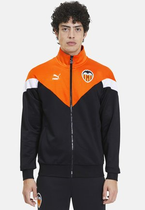 Training jacket - black-vibrant orange
