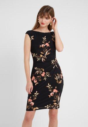 NEW NOVELLINA - Shift dress - black/pink/multi