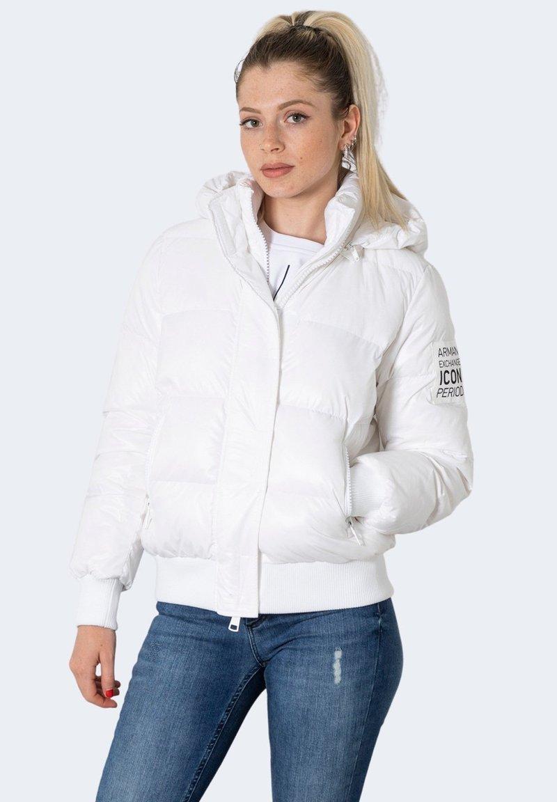 Armani Exchange - BLOUSON JACKET  - Winter jacket - white