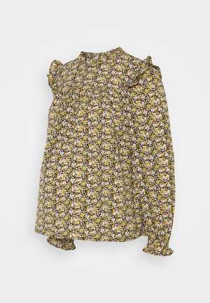 PCMRIMBLA - Blouse - black/yellow