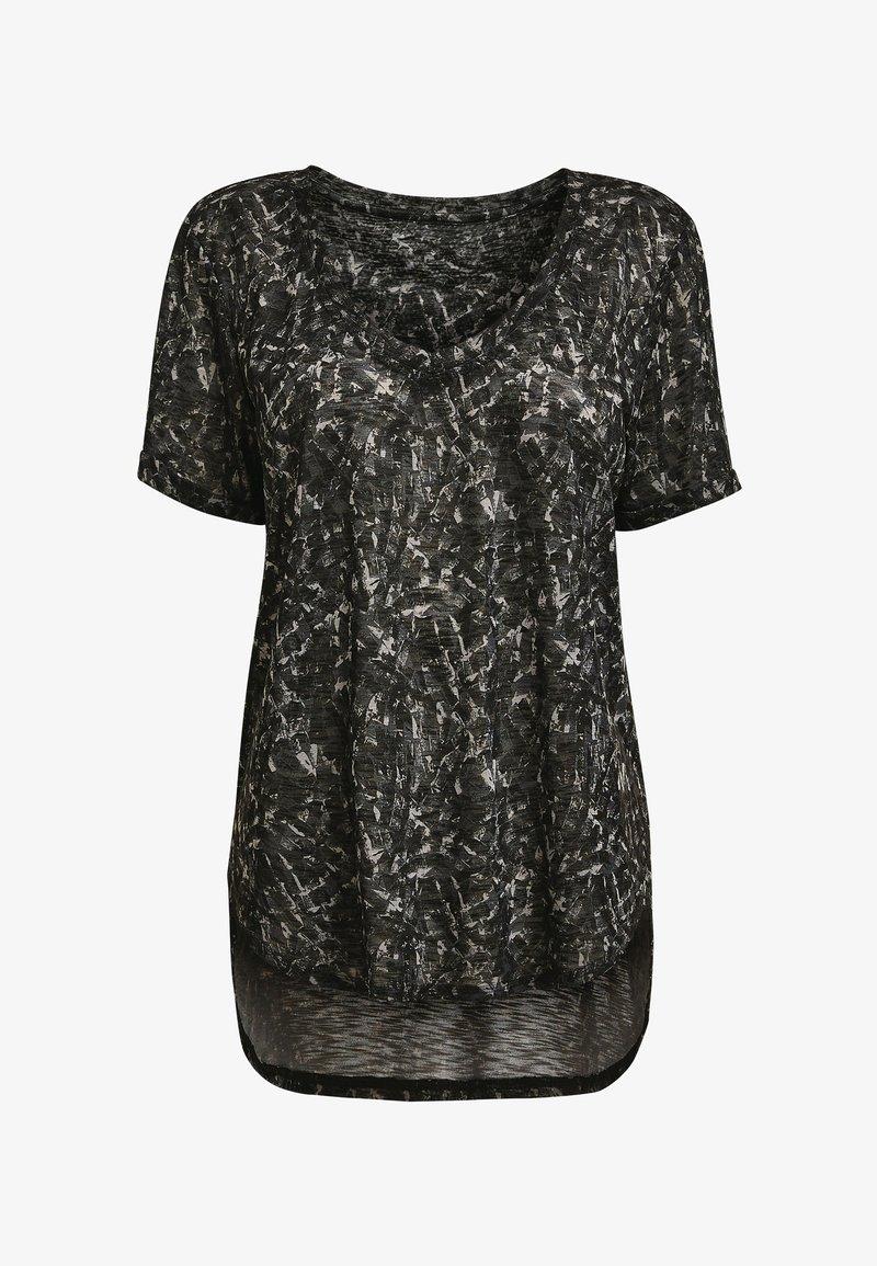 Next - Print T-shirt - mottled black