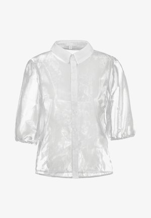 ORGANZA PUFF SLEEVE - Button-down blouse - white