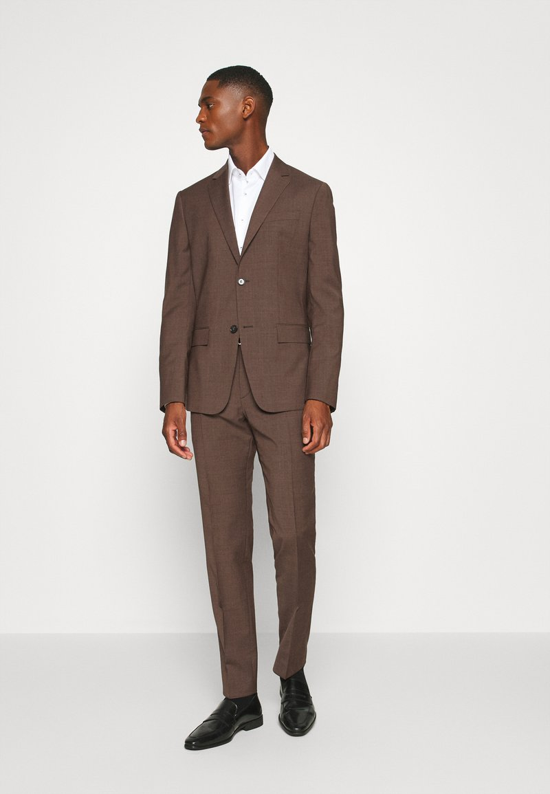 Calvin Klein Tailored - TROPICAL STRETCH SUIT - Suit - brown
