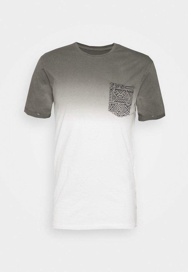T-shirt imprimé - white/grey