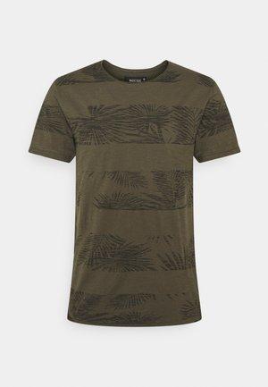 ALLEN - T-shirt z nadrukiem - army