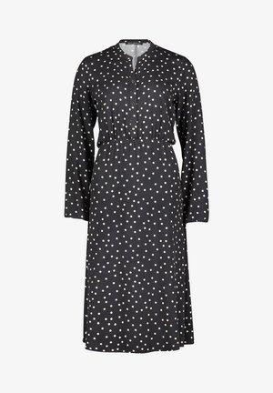 Robe chemise - schwarz/beige