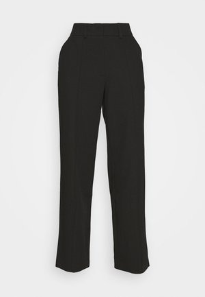 BACK SLIT SUIT PANTS - Kalhoty - black
