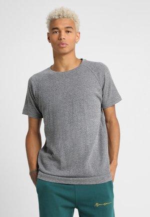 MELANGE TEE - Basic T-shirt - white/black