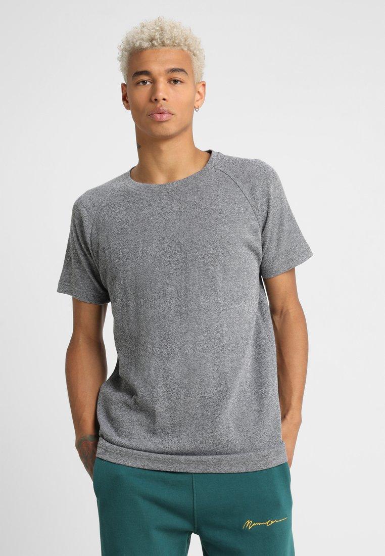 Urban Classics - MELANGE TEE - T-shirt - bas - white/black