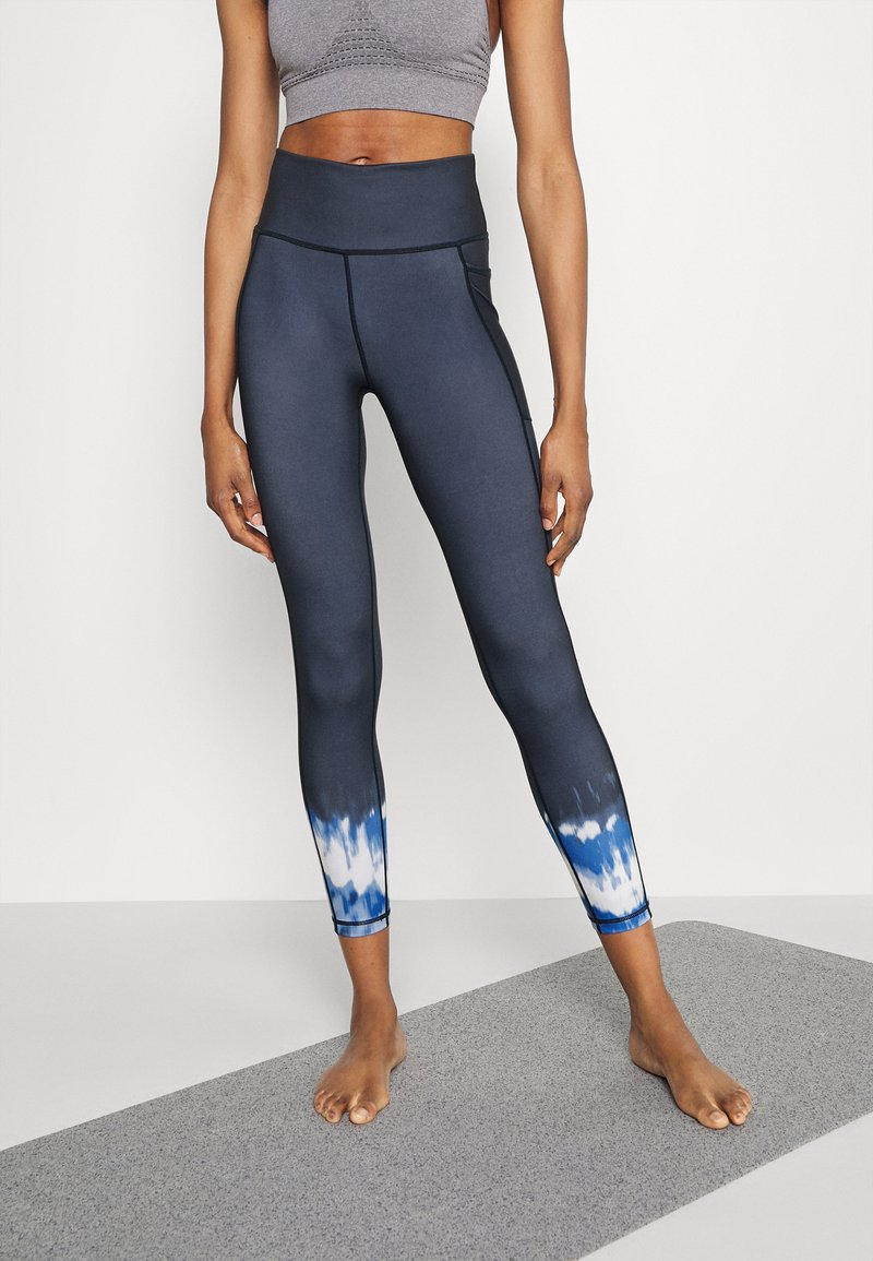 Sweaty Betty - SUPER SCULPT YOGA LEGGINGS - Trikoot - navy blue ink