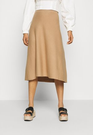 VMFRESNO CALF SKIRT - A-Linien-Rock - tan