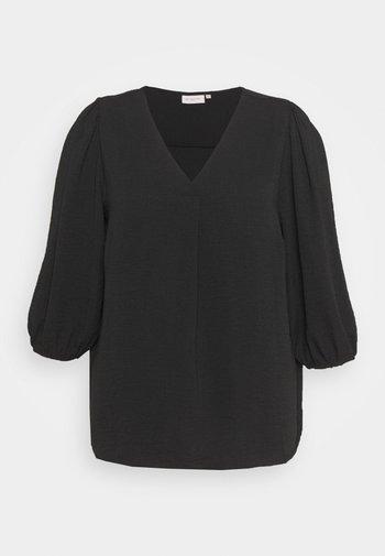 CARJACKIE V NECK BLOUSE - Bluser - black