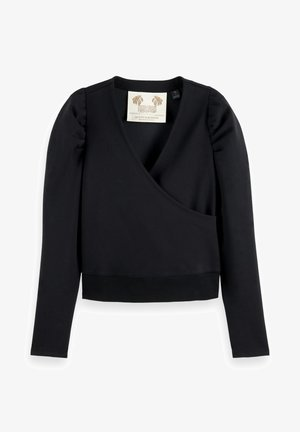 WRAPOVER - Sweatshirt - black