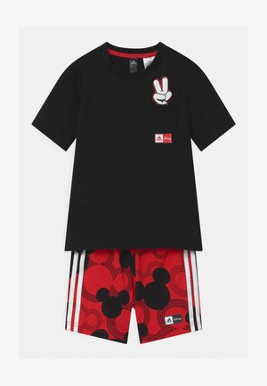 SET UNISEX - Sports shorts - black/white/vivid red