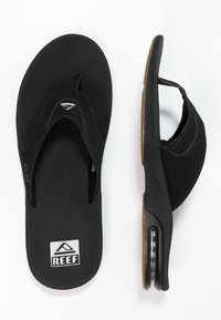 Reef - T-bar sandals - black/silver
