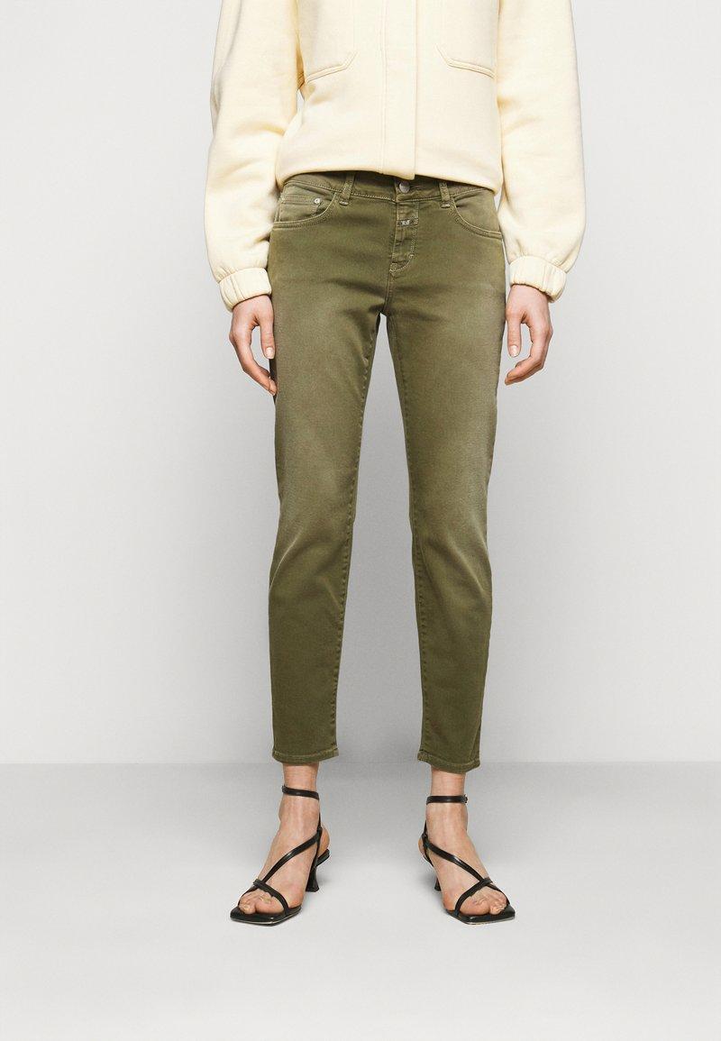 CLOSED - BAKER - Jean slim - green umber