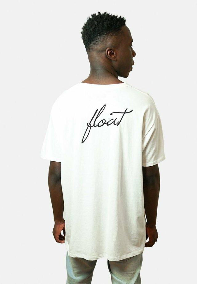 FLOAT BACK UNISEX - T-shirt print - white