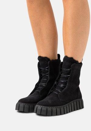 SABA - Platform ankle boots - black