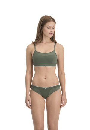PADDED MICROFIBER 1P - Bustier - dark green combo