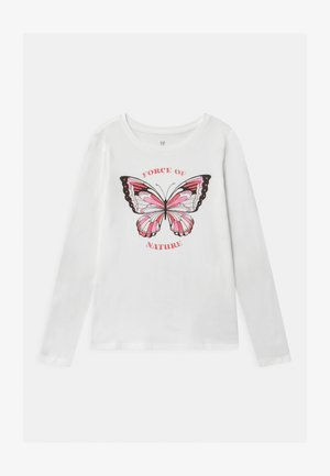 GIRL - Top s dlouhým rukávem - new off white